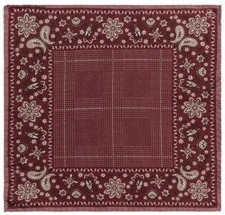 Canali Paisley Silk Pocket Square