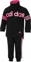 adidas Little Girls' 2-Pc. Jogger Jacket & Pants Set