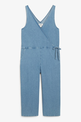 Monki Flowy denim jumpsuit