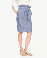 Ann Taylor Chambray Paper Bag Skirt