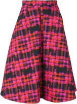 DELPOZO tartan pattern full skirt