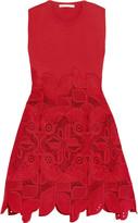 Antonio Berardi Knitted and guipure lace dress