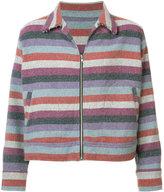 The Elder Statesman striped jacket - men - Cashmere - XL