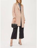 Topshop Nancy faux-fur collar coat