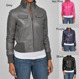 Carter's Knoles & Carter Women's 'Veronica' Leather Bomber Jacket