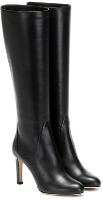 Jimmy Choo Tempe 85 leather knee-high boots