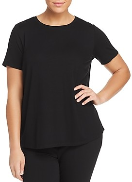 Eileen Fisher, Plus Size System Short-Sleeve Crewneck Tee