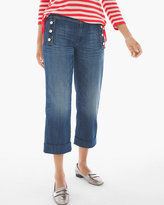 Chico's Button-Front Crop Jeans