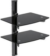 Bentley Adjustable Wall Mount Two Glass Shelf