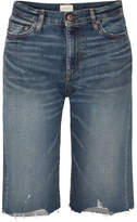 Simon Miller Gannett Frayed Denim Shorts - Mid denim