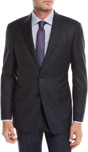 Giorgio Armani Men's Two-Piece Offset Windowpane Wool Suit