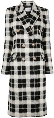 Rebecca Vallance Sabine double breasted check coat