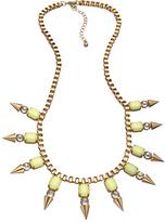 Blu Bijoux Yellow Crystal Spike Bib Necklace