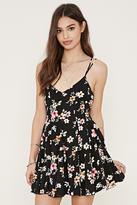 Forever 21 Floral Crisscross Cami Dress