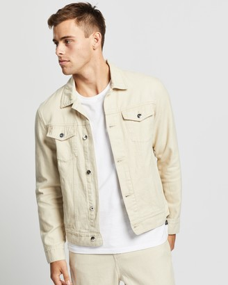 AERE - Men's Neutrals Jackets - Organic Twill Trucker Jacket - Size S at The Iconic
