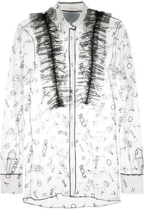 Viktor & Rolf Sheer Shirt With Ruffle Detailing