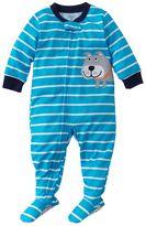 Carter's bulldog striped footed pajamas - toddler