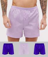 Asos Design ASOS DESIGN 3 pack woven boxer in purple save