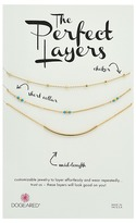 Dogeared Perfect Layers Set of 3 w/ Turquoise Collar Necklace Necklace