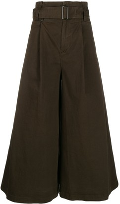 A.F.Vandevorst Wide-Leg Cropped Trousers