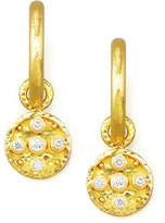Elizabeth Locke 19k Gold Diamond Disc Earring Pendants