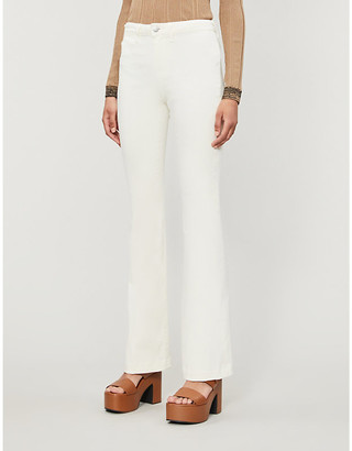 L'Agence Joplin slim-fit flared high-rise jeans
