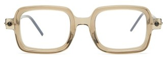 Kuboraum P2 Square Acetate Glasses - Beige