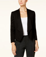 Nine West Striped Open-Front Blazer