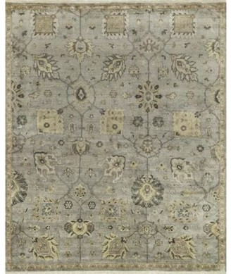 """Loloi Rugs Kehoe Oriental Hand Knotted Silk Gray Area Rug Rug Size: Rectangle 5'6"""" x 8'6"""""""