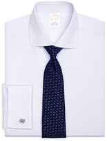Brooks Brothers Golden Fleece® Regent Fit French Cuff Dotted Stripe Dress Shirt