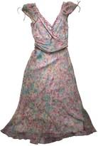 Diane von Furstenberg Green Silk Dress for Women