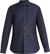 Brioni Loose-fit linen and cotton-blend shirt
