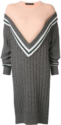 Y/Project Oversized V-Knitted Dress