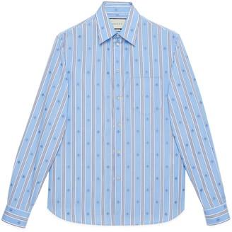 Gucci Bee stripe fil coupe cotton shirt