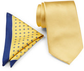 Tommy Hilfiger Solid Silk Pocket Square & Micro Neat Tie Set