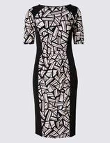 Marks and Spencer PETITE Geometric Print Shift Dress