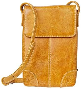 Frye Melissa Lanyard Phone Wallet Crossbody (Sunflower) Handbags
