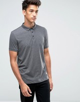 Asos Polo Shirt In Charcoal