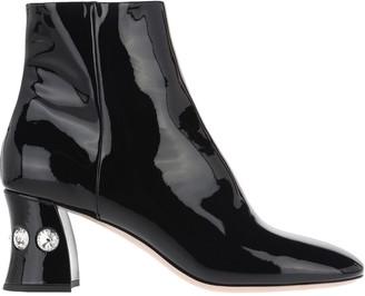 Miu Miu Patent Leather Embellished Boots