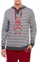 Psycho Bunny Striped Logo French Terry Hoodie