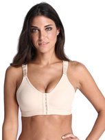YIANNA Women's Full Coverage Post-surgical Front Closure Sports bra With Wide Back support, CA-YA-BRA128-S