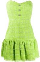 Brognano strapless tweed mini dress