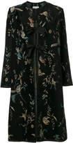 Forte Forte floral print tie coat