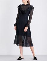 Temperley London Prairie high-neck lace dress
