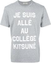 MAISON KITSUNÉ 'je suis allée' T-shirt - men - Cotton - S