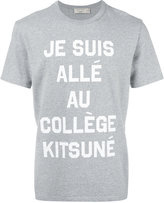MAISON KITSUNÉ 'je suis allée' T-shirt - men - Cotton - XS