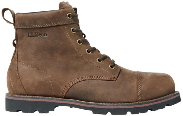 L.L. Bean L.L.Bean Men's East Point Casual Cap-Toe Boots, Waterproof