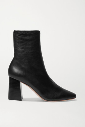 Loeffler Randall Elise Leather Ankle Boots - Black