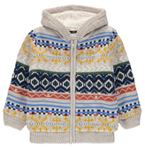 George Fleece Lined Knitted Hooded Jacket