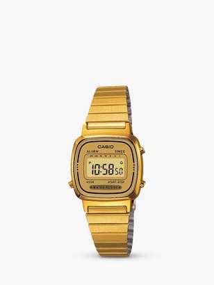 Casio LA670WEGA-9EF Women's Vintage Bracelet Strap Watch, Gold